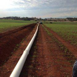 Agricultural Irrigation - Installing Center Pivot Pipeline