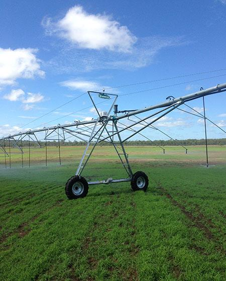 Center Pivot Irrigation System Running