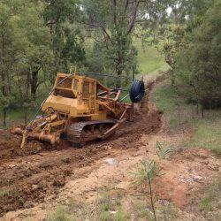 Trenching and laying poly pipe